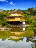 Beautiful golden pavilion with blue sky 2 Stock Photos
