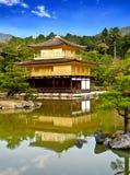 Beautiful golden pavilion with blue sky 2 Stock Photos