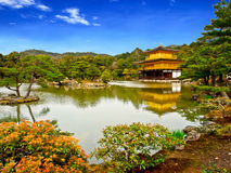 Beautiful golden pavilion with blue sky 3 Royalty Free Stock Photo