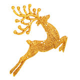Beautiful golden reindeer decoration Stock Images