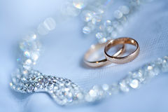 Beautiful golden rings Royalty Free Stock Photo