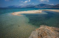Beautiful Golden sand beach, Evia, Greece Royalty Free Stock Photos