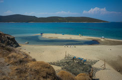 Beautiful Golden sand beach, Evia, Greece Stock Photos