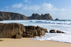 Porthcurno Cornwall Royalty Free Stock Photography