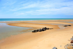 Beautiful golden send beach in Thailand Royalty Free Stock Image