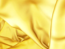 Beautiful golden silk fabric waves abstract background Royalty Free Stock Photography