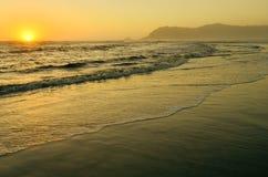 Beautiful golden sunset Stock Images