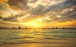Beautiful golden sunset. Royalty Free Stock Photo