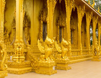Beautiful golden temple. Is elegant pronounced in Thailand Stock Image