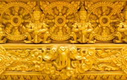 Beautiful golden temple. Is elegant pronounced in Thailand Stock Photography