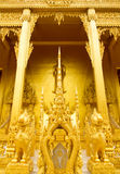 Beautiful golden temple. Is elegant pronounced in Thailand Royalty Free Stock Image
