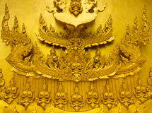 Beautiful golden temple. Is elegant pronounced in Thailand Stock Photo