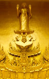 Beautiful golden temple. Is elegant pronounced in Thailand Stock Images