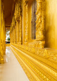 Beautiful golden temple. Is elegant pronounced in Thailand Royalty Free Stock Photos