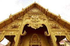 Beautiful golden Thai Church Royalty Free Stock Photo