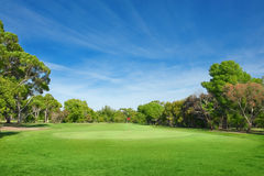 Beautiful golf course Royalty Free Stock Images