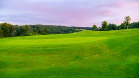 Beautiful Golf course, blue sky Royalty Free Stock Photography