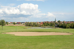 A Beautiful Golf Course in Europe Royalty Free Stock Photography