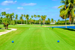 Beautiful golf course Royalty Free Stock Photos