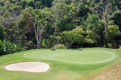 Beautiful golf course and palm tree. Island Koh Samui, Thailand Stock Photos