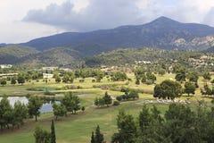 Beautiful golf course of Porto Carras Stock Photo