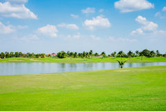Beautiful golf course in thailand Stock Photo