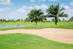 Beautiful golf course in thailand Royalty Free Stock Photo