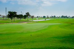 Beautiful golf course in thailand Royalty Free Stock Photography