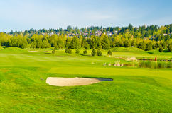 Beautiful golf place. Royalty Free Stock Photo
