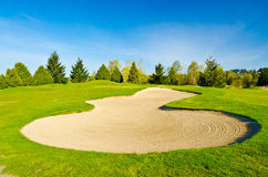 Beautiful golf place. Royalty Free Stock Image
