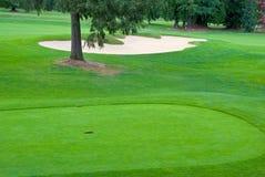 Beautiful golf place. Royalty Free Stock Image