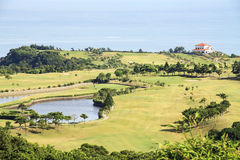 Beautiful golf place with nice background Royalty Free Stock Photos