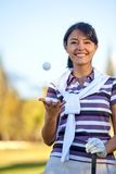 Beautiful golf player Royalty Free Stock Image