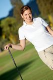 Beautiful golf player Stock Photos
