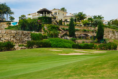 Beautiful golf villa Stock Images
