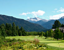 Beautiful golfcourse. In Whistler, Canada royalty free stock photo