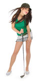 Beautiful golfer girl Royalty Free Stock Photo