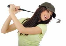 Beautiful golfer girl Stock Image