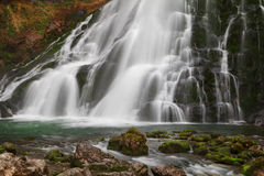 Beautiful Golling waterfall and near Golling and Salzach medieva Royalty Free Stock Images