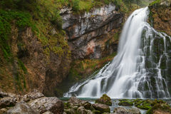 Beautiful Golling waterfall and near Golling and Salzach medieva Stock Photos
