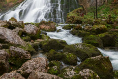 Beautiful Golling waterfall and near Golling and Salzach medieva Royalty Free Stock Photography