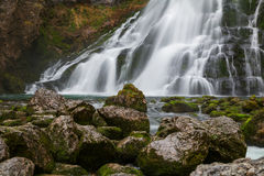 Beautiful Golling waterfall and near Golling and Salzach medieva Royalty Free Stock Image