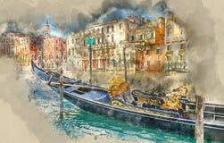 Beautiful gondola in Venice Stock Images