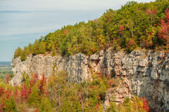 beautiful gorgeous natural autumn background of Niagara escarpment green belt Stock Images