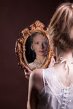 Beautiful gorgeous woman in victorian style Stock Photography