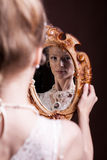Beautiful gorgeous woman in victorian style Royalty Free Stock Images