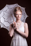 Beautiful gorgeous woman in victorian style Stock Image