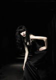 Beautiful goth girl Royalty Free Stock Photos
