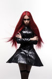 Beautiful goth mistress evil girl Stock Photography