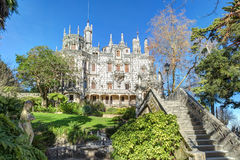 Beautiful Gothic castle Regaleira Rococo . Royalty Free Stock Photography